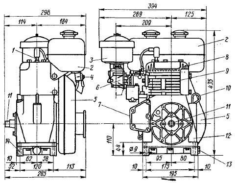 Фильтр-отстойник и воздушный фильтр двигателя Д-240/243.